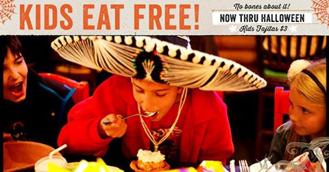 carlos okelly's kids eat free for halloween