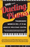 Flyer for Dueling Pianos at WSU