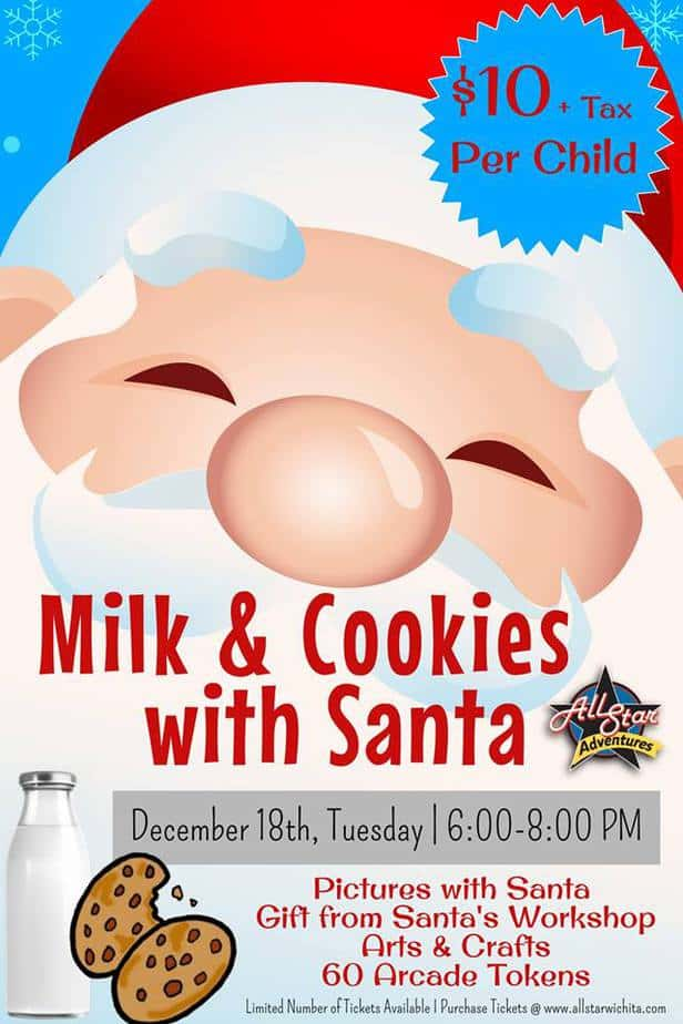 Milk And Cookies With Santa At All Star Adventures