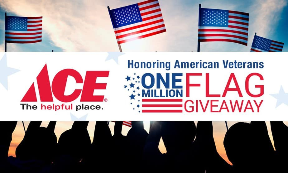 graphic relating to Ace Hardware Printable Coupon titled No cost Flags versus Ace Components for Memorial Working day