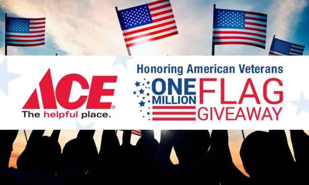 Ace Hardware VFW Memorial Day one million flags giveaway