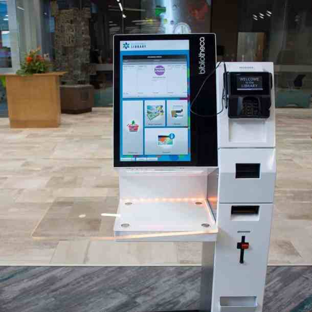 Advanced Learning Library self-checkout stations