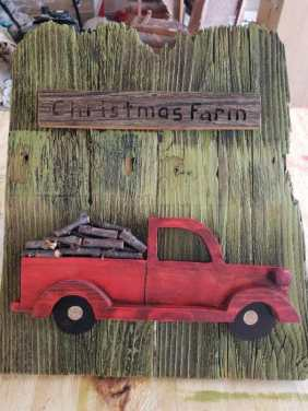 handmade truck holiday decor