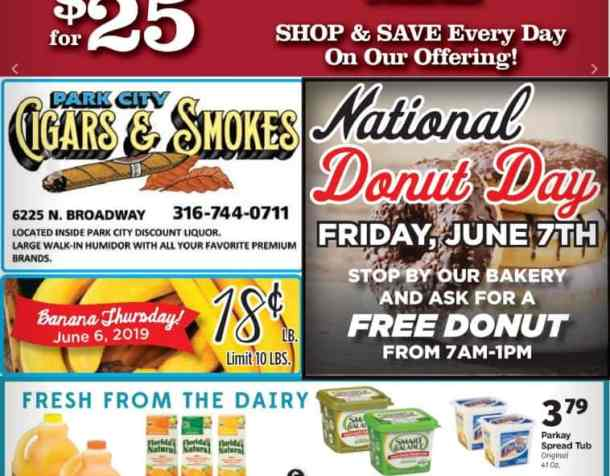 Leekers ad for national donut day