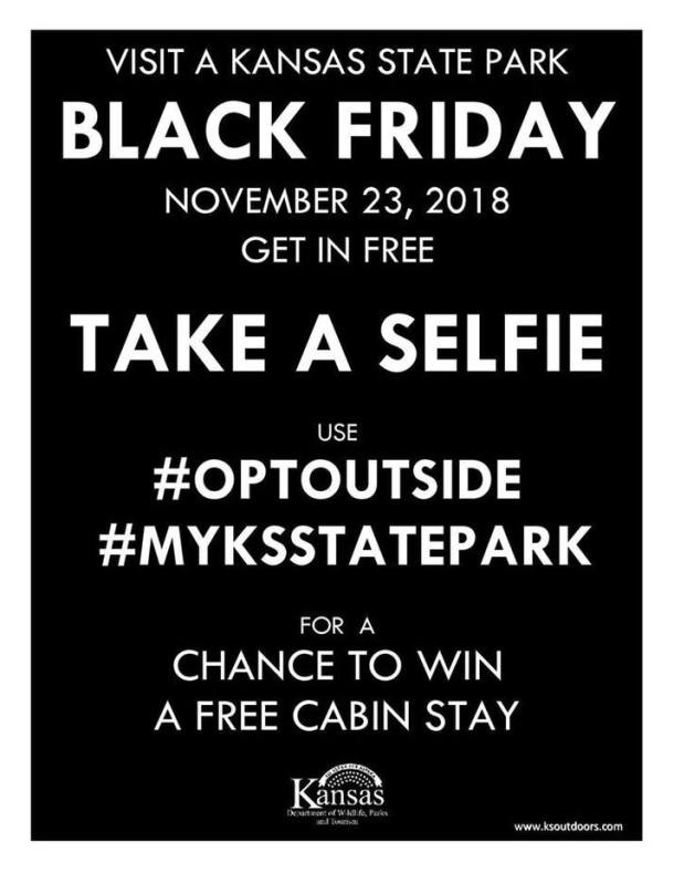 Kansas State Parks free entrance on Black Friday