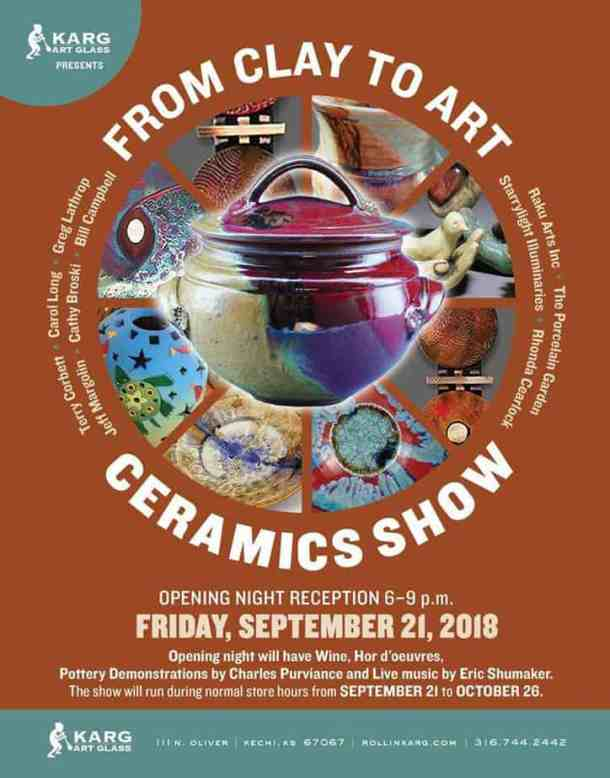 Karg Art Glass ceramics show opening reception FREE