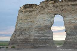 Keystone Rock at Monument Rocks chalk pyramids in western Kansas