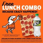 Little Caesar's free lunch combo because crazy happened!