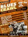 Fall Blues Crawl 2019 Wichita, KS flyer with schedule