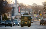 The Q-line trolley running along Douglas Ave. in Wichita