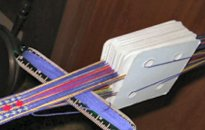 An example of card weaving