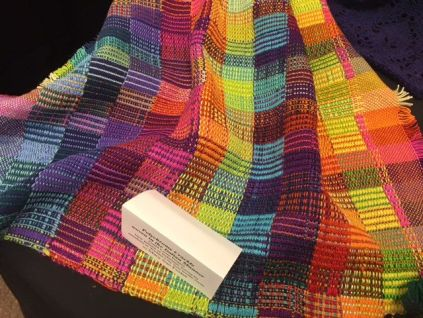 Mary Sue Foster's polychrome crackle weave