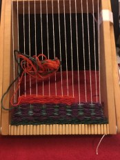 From the tapestry weaving session