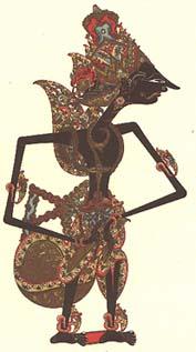 Wayang shadowplay puppet <I>Kresna</I>