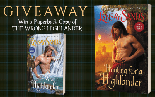Giveaway Graphic - Hunting For a Highlander by Lynsay Sands - 1
