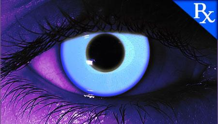 Rave Blue UV Glow Halloween Contact Lenses