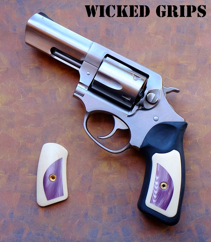 Custom Ruger Sp101 Grips Purple Pearl In Holly