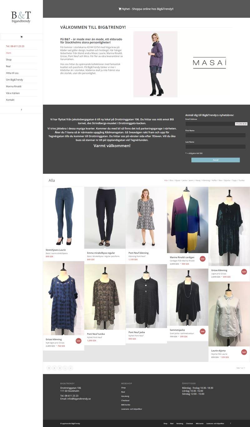 Webshop for Swedish Clothing Company