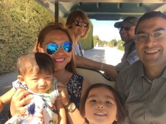 family selfie in our little buggy