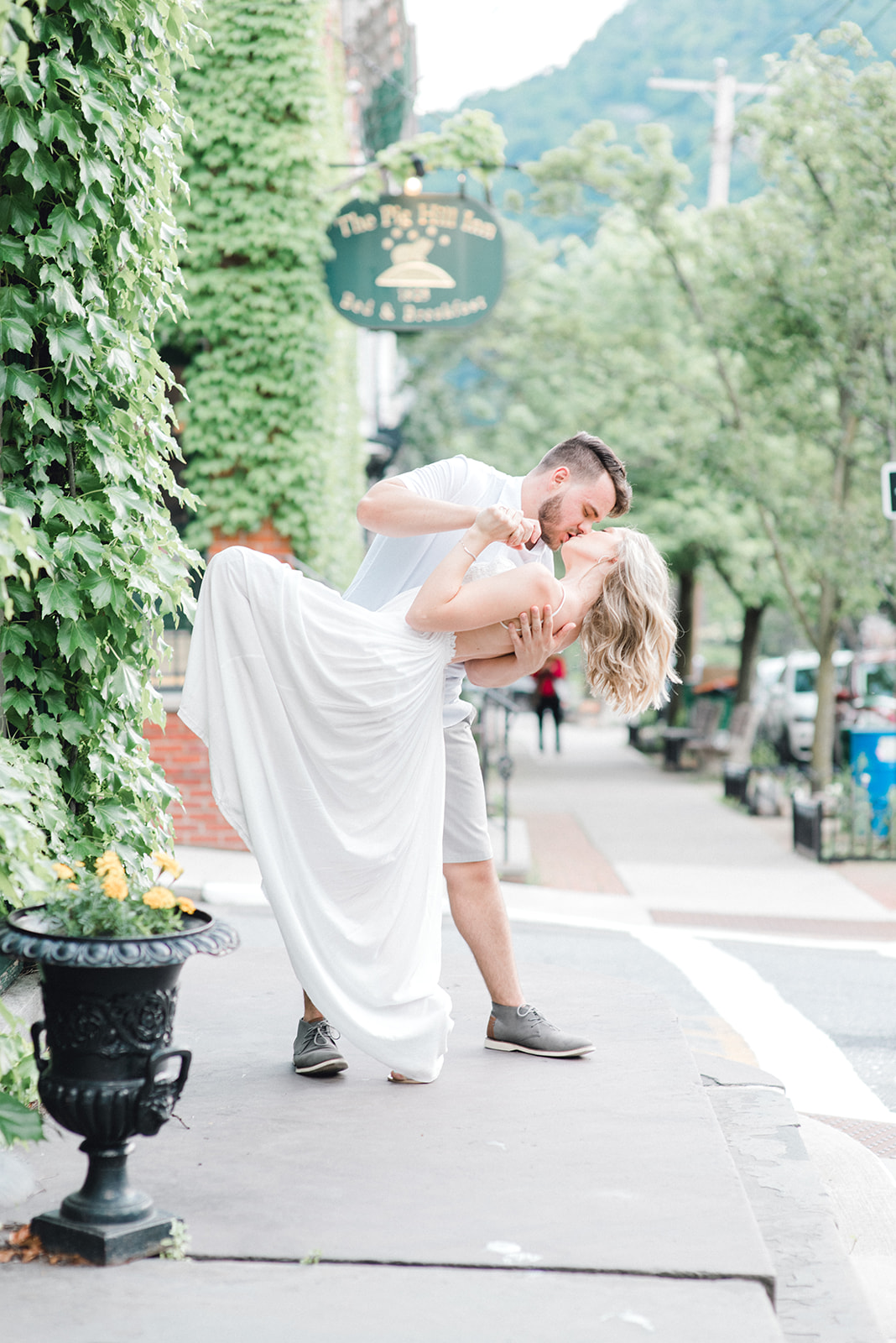 cold spring engagement session