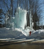 Like this, a broken hydrant line and a storm make a sculpture.