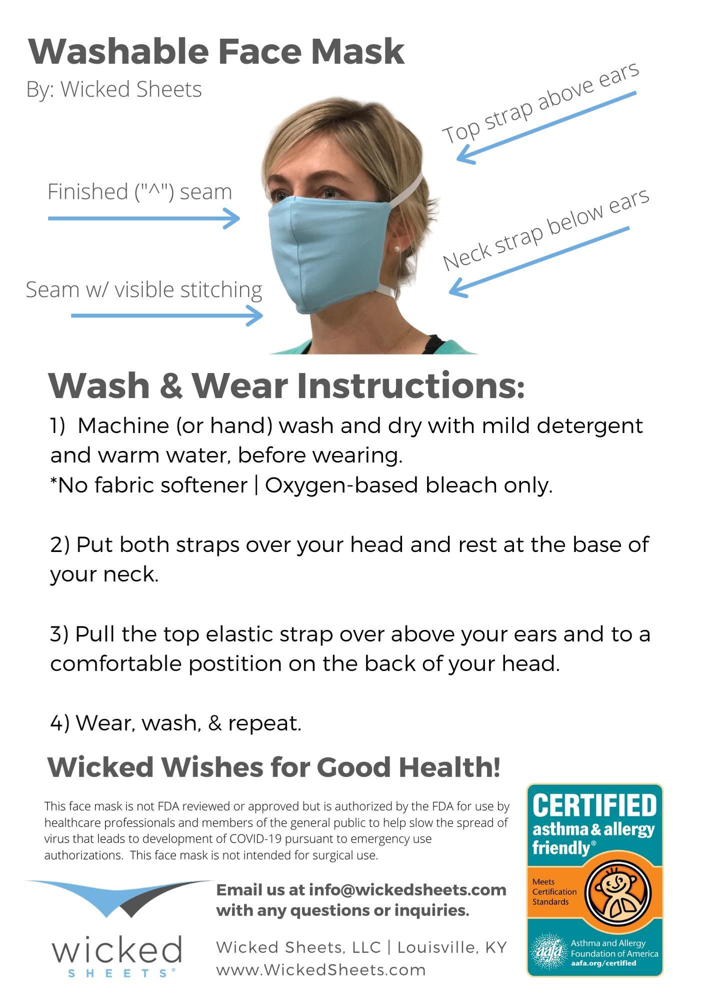 Washable Multi Layer Face Mask