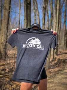 A black Wicked Trail shirt