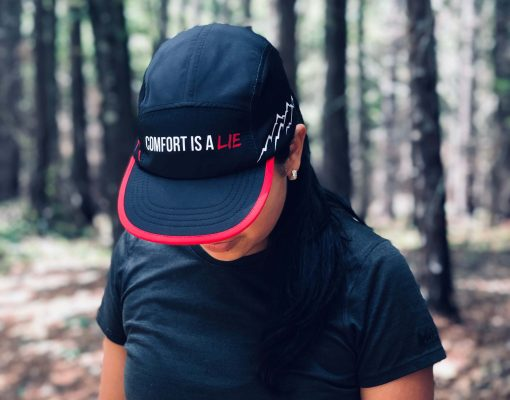 Comfort Is A Lie UltraCap by Wicked Trail Running.