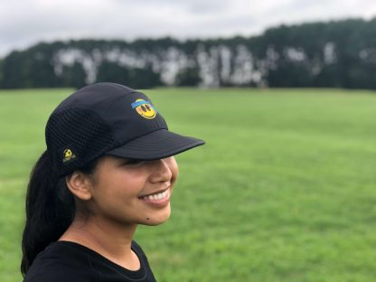 Smiley UltraCap ultra marathon cap by Wicked Trail Running