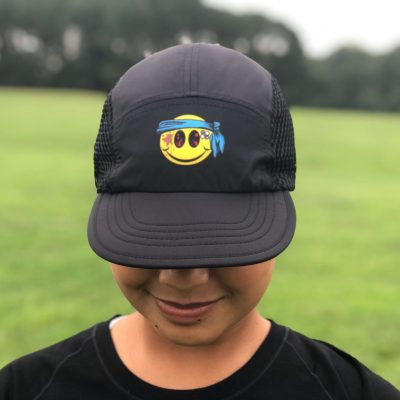 Smiley UltraCap ultra marathon hat by Wicked Trail Running