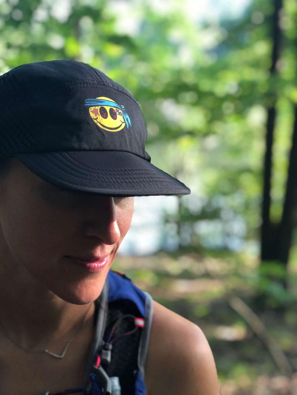Smiley ultra marathon hat by Wicked Trail