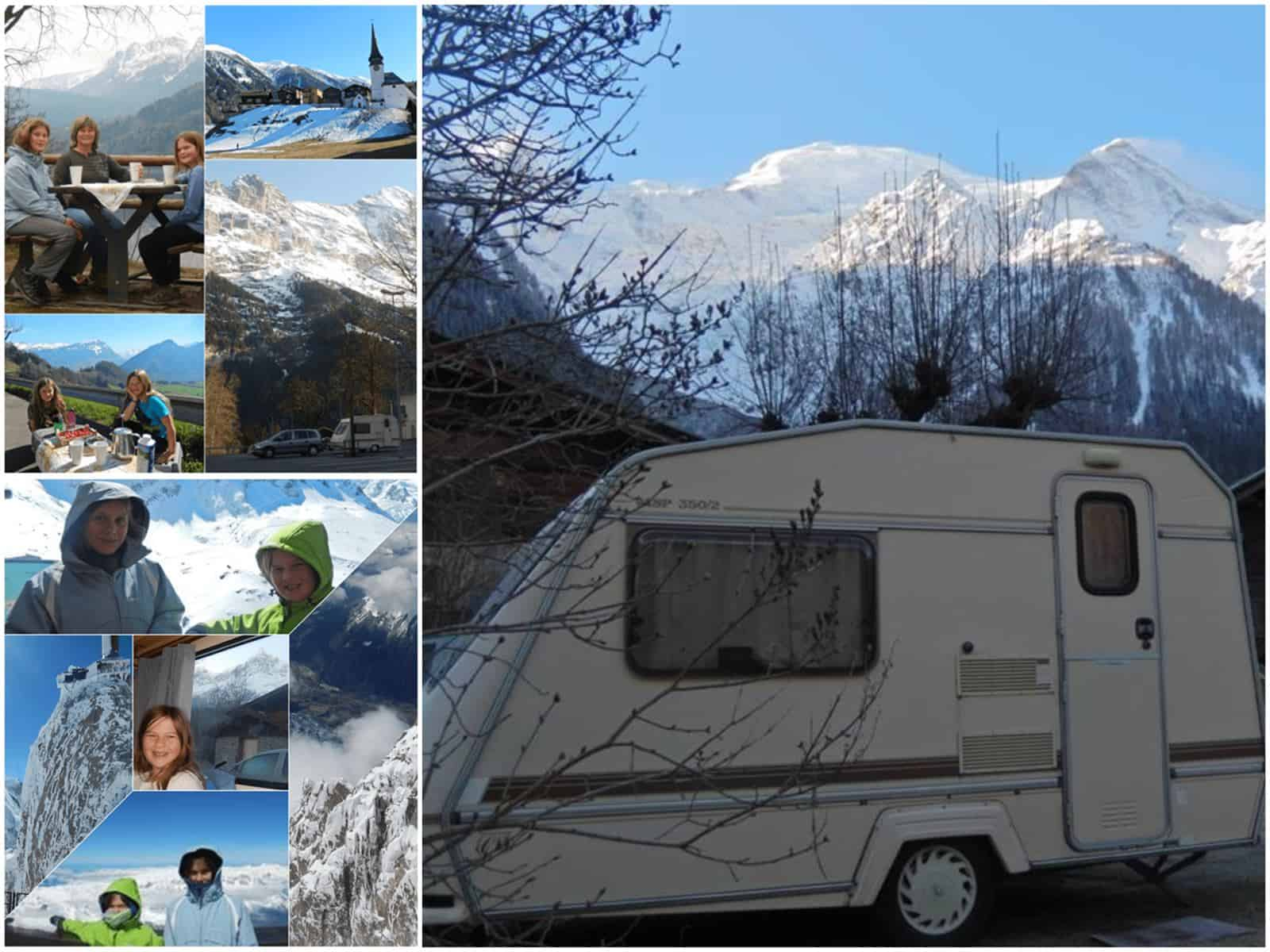 winter Travel in Europe with a caravan and kids