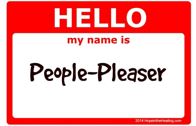 Hello my name is People-Pleaser sign