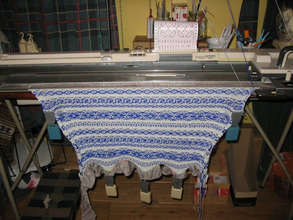 fairisle knitting on a knitmaster mod 700