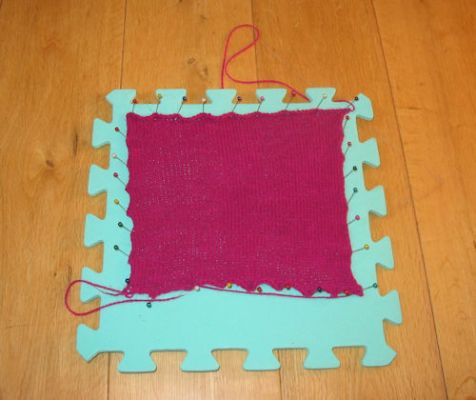 blocking a washed square