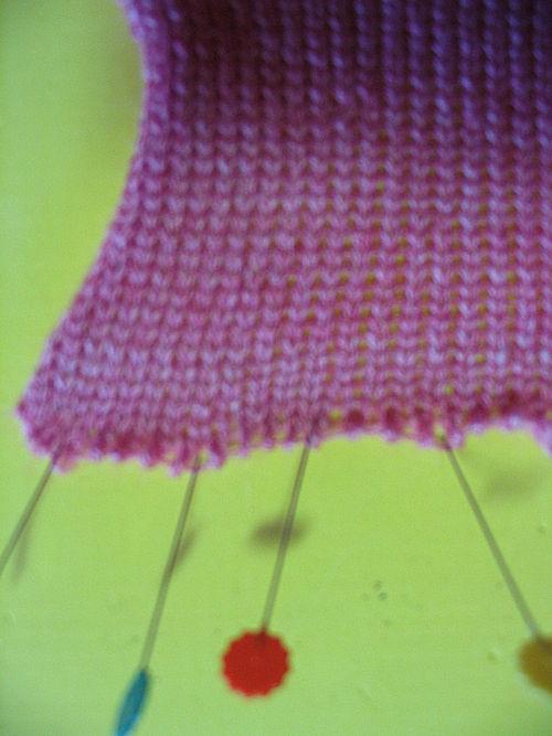 weaving brush cast on edge