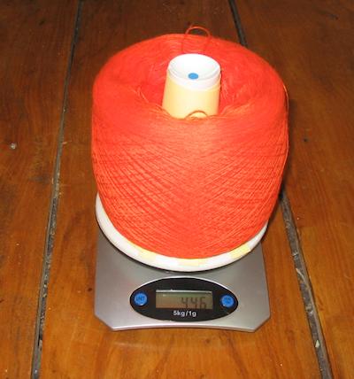 large yarn cake