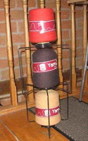 3 cones of yarn2cone