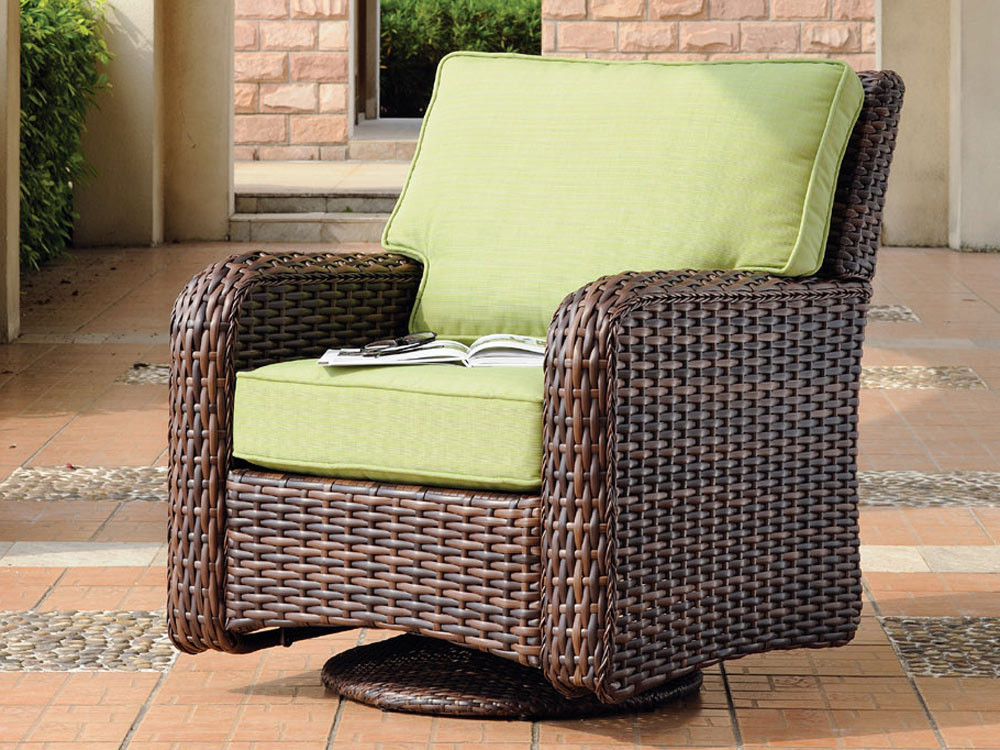 South Sea Rattan Saint Tropez Wicker Swivel Glider