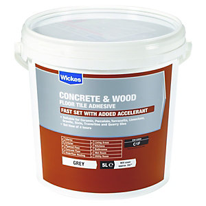Tile Adhesives   Tile Adhesive   Grout   Wickes co uk Wickes Concrete   Wood Floor Tile Adhesive 5L