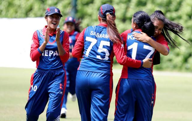 Nepal womens cricket team ( Picture © ZapStudio Hk )