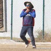 Prem Tamang taking a catch