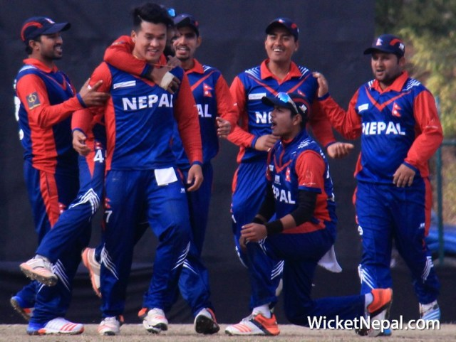 Sagar Pun and Sandeep Lamichhane each bagged two wickets for Nepal.
