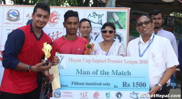 Man of the match Siddhant Lohani & Ankit Subedi