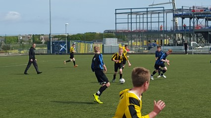 The lads attack