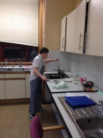Xenon with the final touches to his dish