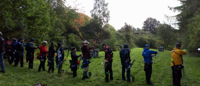 Archers practicing in Dargle Valley