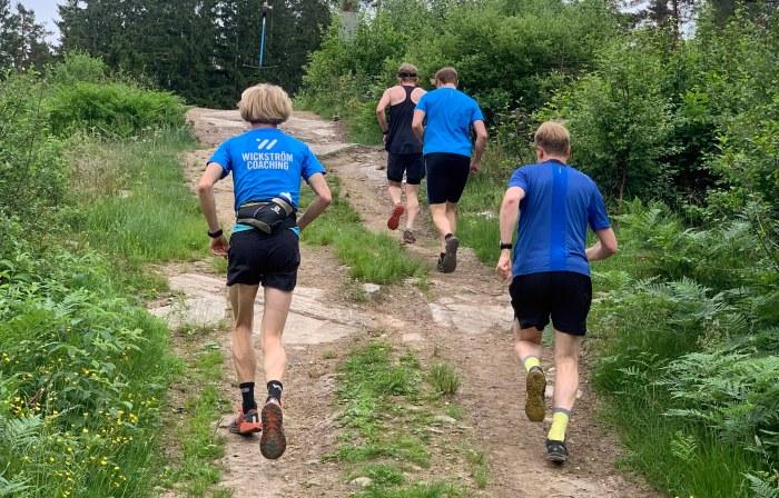 Vertikala kilometer Bollekollen. Löpning uppför.