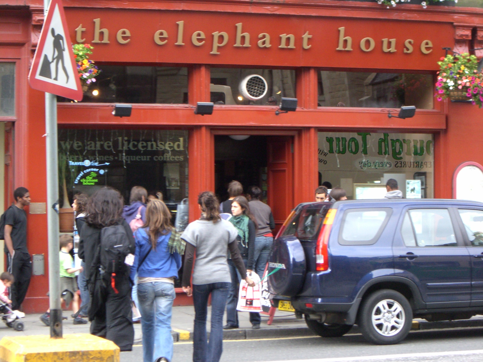 The Elephant House in Edinburgh - where J.K. Rowling scrawled the original ideas for 'Harry Potter' on napkins. I took a handful of napkins - and scrawled a few ideas of my own - for good measure!