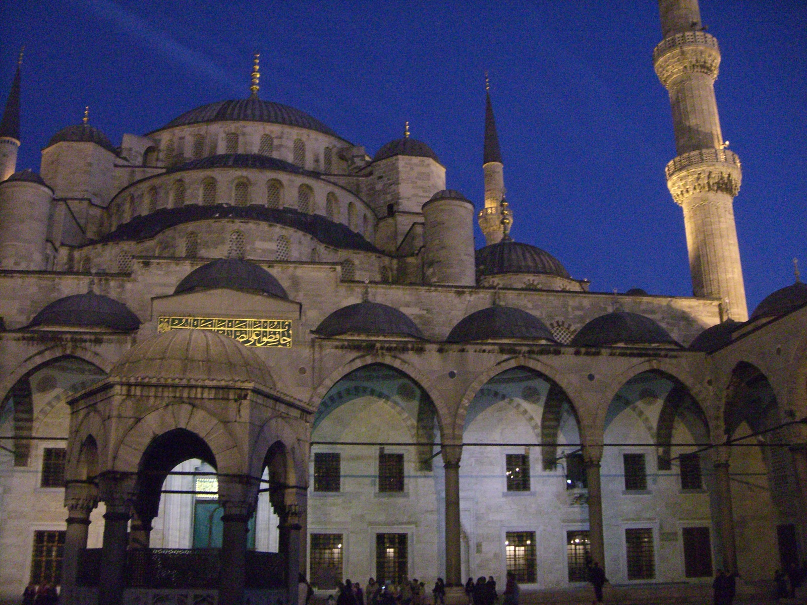 The Blue Mosque with perfect lighting (just after sunset)